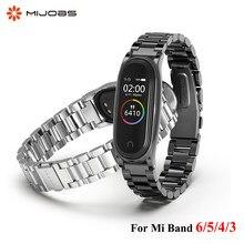 Correa de Metal para Xiaomi Mi Band 6, 5, 4 y 3, pulsera de acero inoxidable, accesorios para pulsera inteligente Mi Band 4