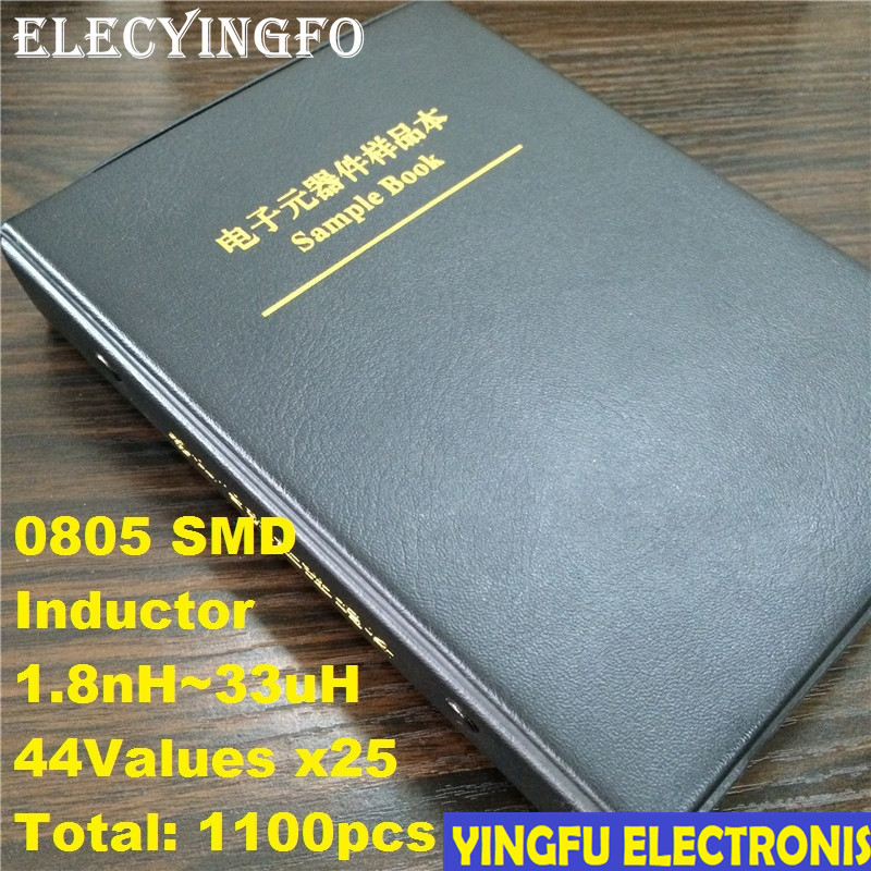 0805 SMD SMT Chip Inductors Assortment Kit 44Values x25 Assorted Sample Book