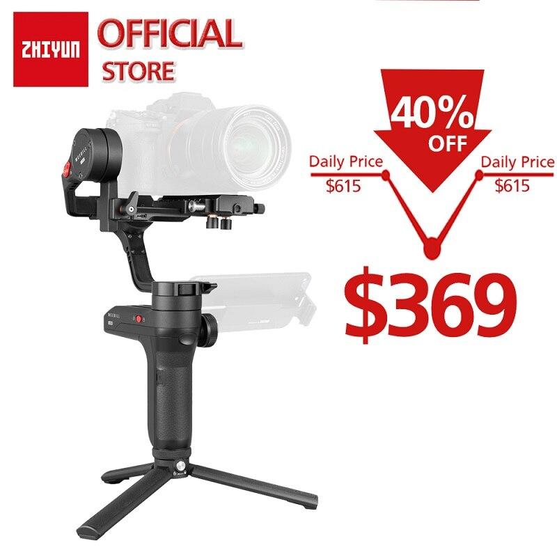 Estabilizador de transmisión de imagen ZHIYUN oficial Weebill LAB de 3 ejes para cámara sin espejo pantalla OLED cardán de mano