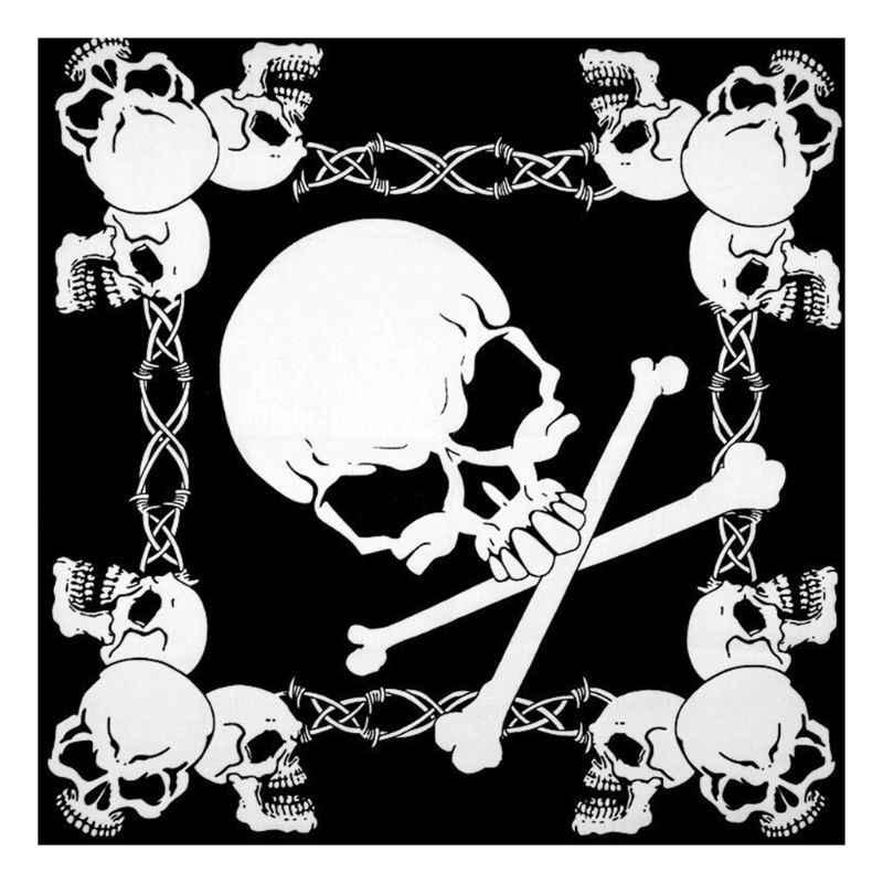54x54cm Unisex Rực Lửa Đầu Lâu Vuông Chủ Đề Bandanas Cotton Xe Máy In Đại Bàng Cổ Biker Khăn Tay Hip Hop Nhảy Múa đầu Bọc