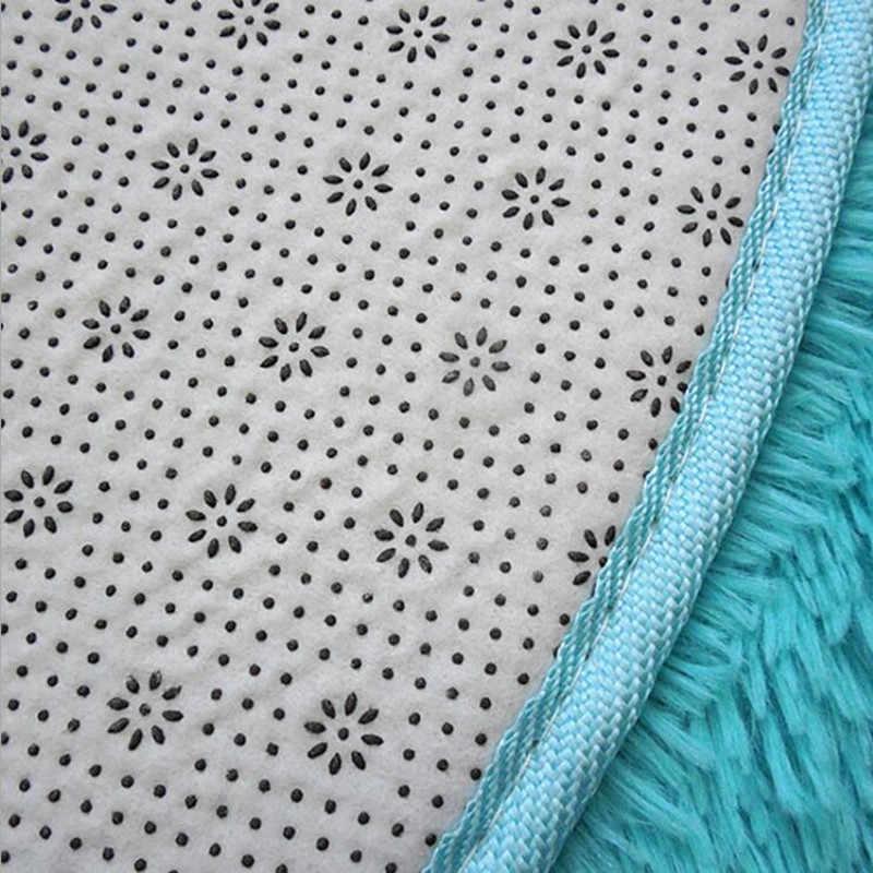 2020 siyah yumuşak halı Anti-skid peluş saç kabarık tüylü halı Faux kürk alan kilim paspaslar oturma odası yatak odası için alfombras