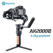 Feiyutech ak2000s câmera de vídeo estabilizador cardan handheld para dslr mirrorless câmera 2.2 kg carga útil para nikon canon sony