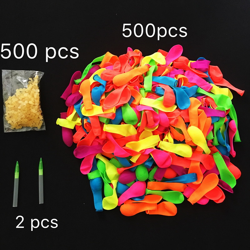 500pcs Water Balloons+Rubber Quickly Filling Magic Balloons Bombs Instant Beach Toys Summer Outdoor Fighter Toys