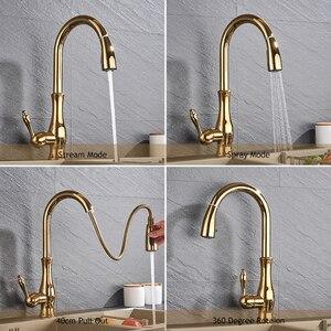 Image 3 - Golden Trek Keukenkraan Pull Down Spray Keuken Mengkraan Enkel Handvat Mengkraan Swivel 360 Graden Keuken Mixer tap
