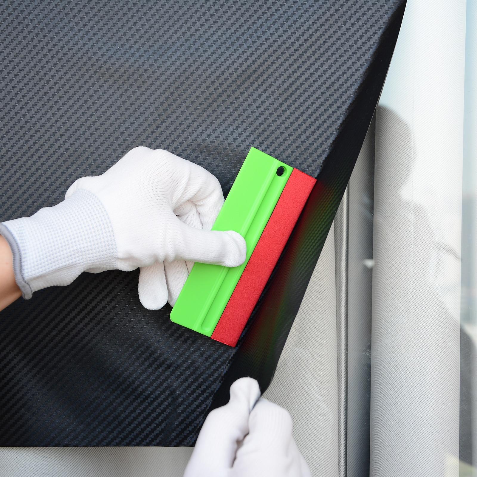 FOSHIO виниловая пленка для автомобиля, войлочный скребк для бритвы, скребок из углеродного волокна, стикер для удаления оконного оттенка, инс...