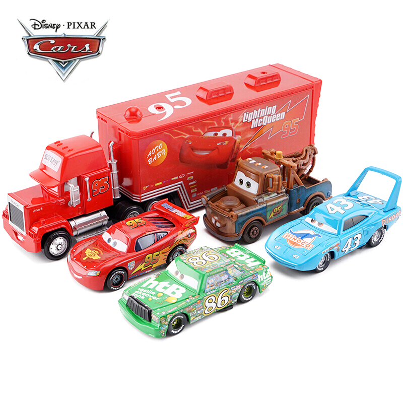 Disney Pixar Cars 2 3 Toy Car Set Lightning McQueen Mack Uncle Truck Rescue Collection 1:55 Diecast Model Car Toy Children Gift(China)