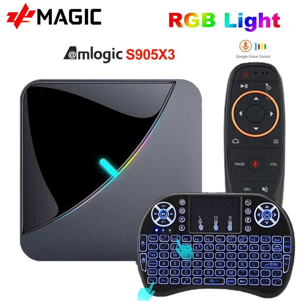 A95X F3 Air TV Box Android 9.0 8K RGB lumière Amlogic S905X3 4GB 64GB Wifi 4K Box Androaid tv lecteur multimédia X3 BOX   AliExpress