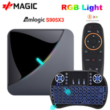 A95X F3 에어 TV 박스 안드로이드 9.0 8K RGB 라이트 Amlogic S905X3 4 기가 바이트 64 기가 바이트 와이파이 4K 박스 Androaid tv 미디어 플레이어 X3 박스