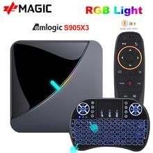 ТВ   приставка A95X F3Air Android 9,0 8K RGB Light Amlogic S905X3 4GB 64GB Wifi 4K Netflix Youtube приставка Android TV медиаплеер приставка tv