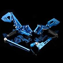 Motorbike Rider Racing Rearset Rear Foot Rest Pegs Footrests Adjustable Set Footrest For SUZUKI Pedals Moto