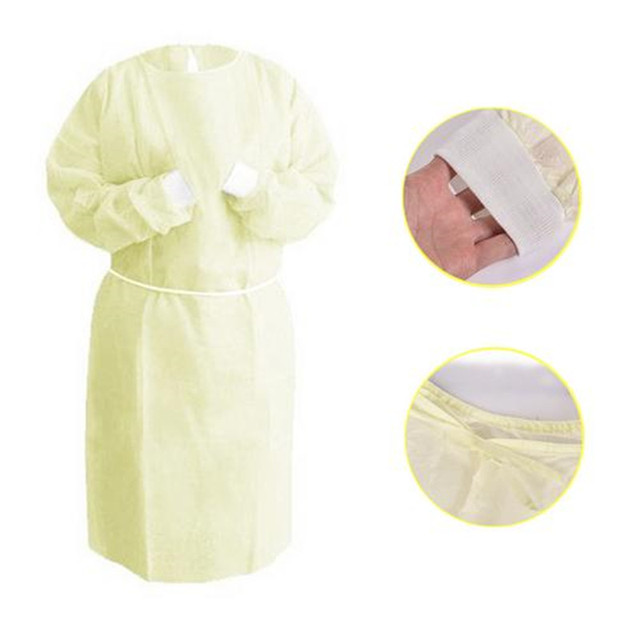 10Pcs Disposable Bandage Coverall Gown Anti Dust Isolation Clothes Labour Suit Nonwoven Protection Safety Clothing Hat PPE Kit 2