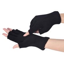 Dorywczo pół palca rękawiczki damskie rękawice męskie rękawiczki bez palców z dzianiny szydełka pół palców dorosłych ciepłe zimowe guantes tacticos # Y2 tanie tanio ISHOWTIENDA Dla dorosłych Unisex COTTON Poliester Stałe Nadgarstek Moda Gloves winter gloves handschoenen
