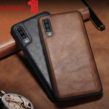 X-level Leather Case For Samsung Galaxy A50 Soft Silicone Edge Business Shockproof Back Phone Cover For Samsung A70 Case for samsung galaxy a70 case luxury robot hard coque back phone case for samsung galaxy a70 play back cover for galaxy a70 case