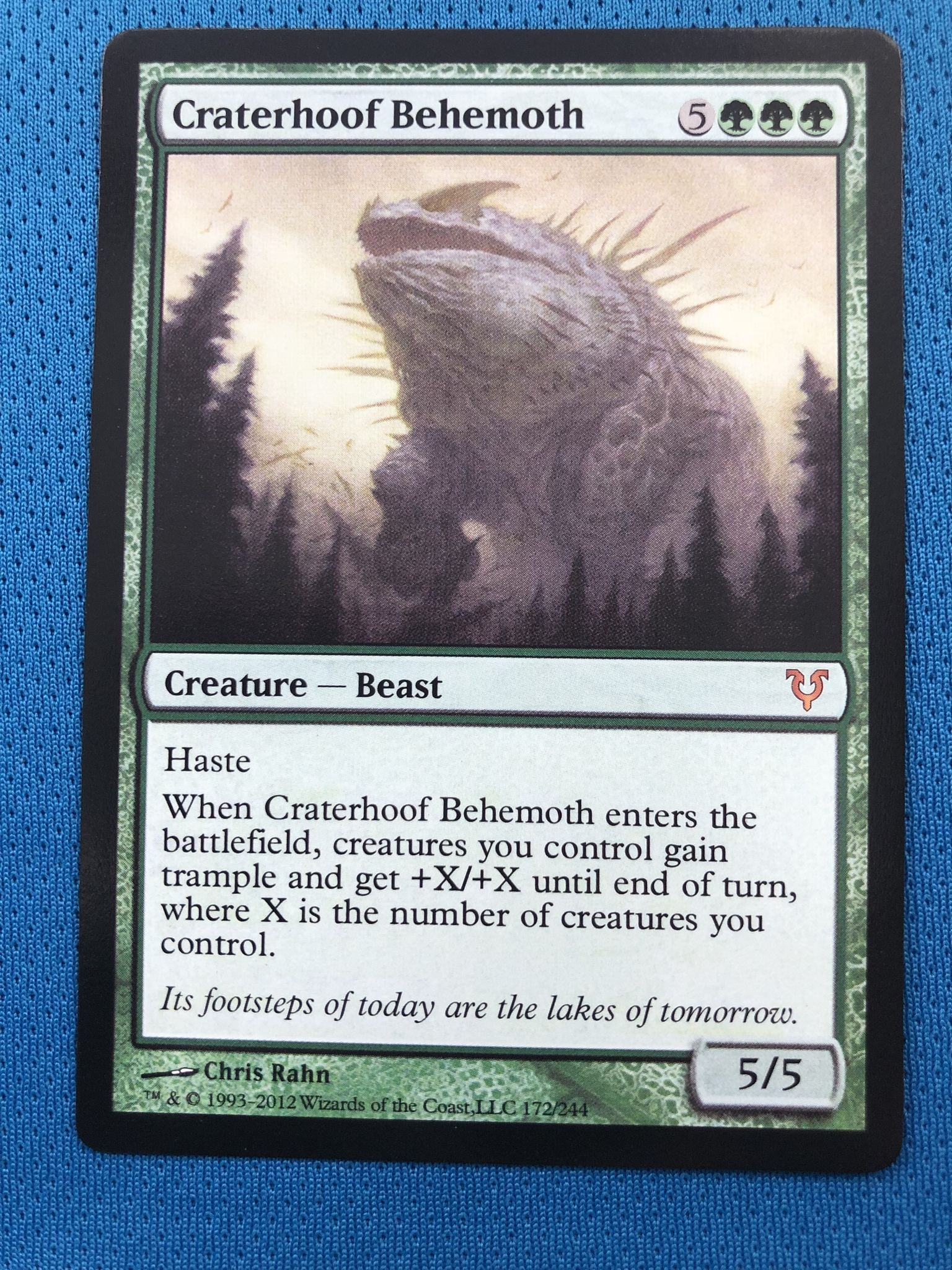 Craterhoof Behemoth	Avacyn Restored Magician ProxyKing 8.0 VIP The Proxy Cards To Gathering Every Single Mg Card.