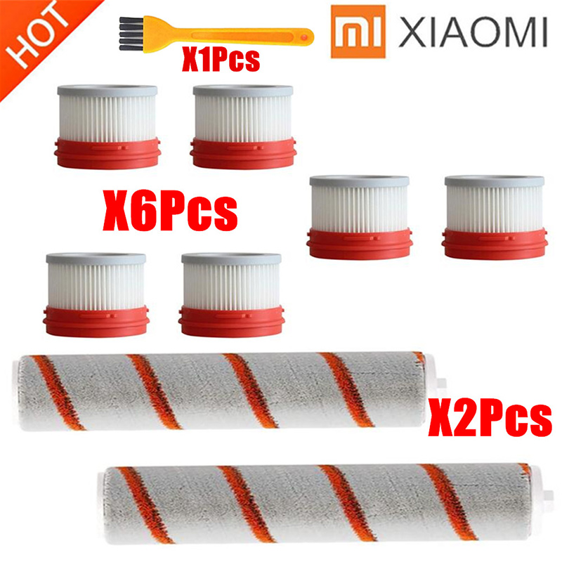 HEPA Filter For Xiaomi Dreame V9 V9B V10 Wireless Handheld Vacuum Cleaner Accessories Hepa Filter Roller Brush Parts Kit