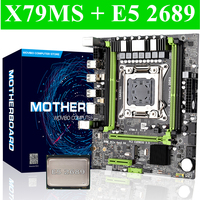 X79 Desktop Server Motherboard LGA 2011 With E5 2689 Intel LGA2011 Socket CPU PCI E M.2 SSD Computer mianboard set Turbe boost