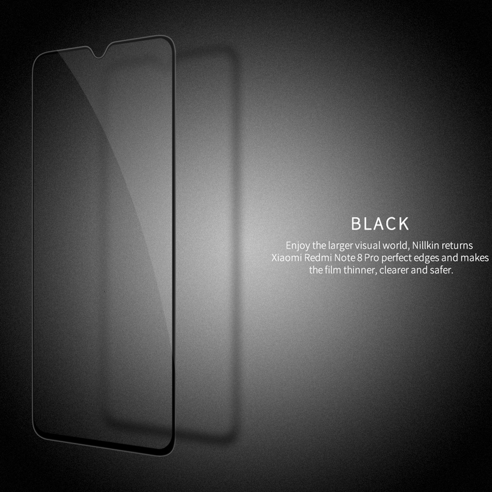 Nillkin Full Cover Glass For XiaoMi Redmi Note 8 pro 2.5D CP+Pro Tempered Glass For Redmi Note 8T Note8 Screen Protection film 6