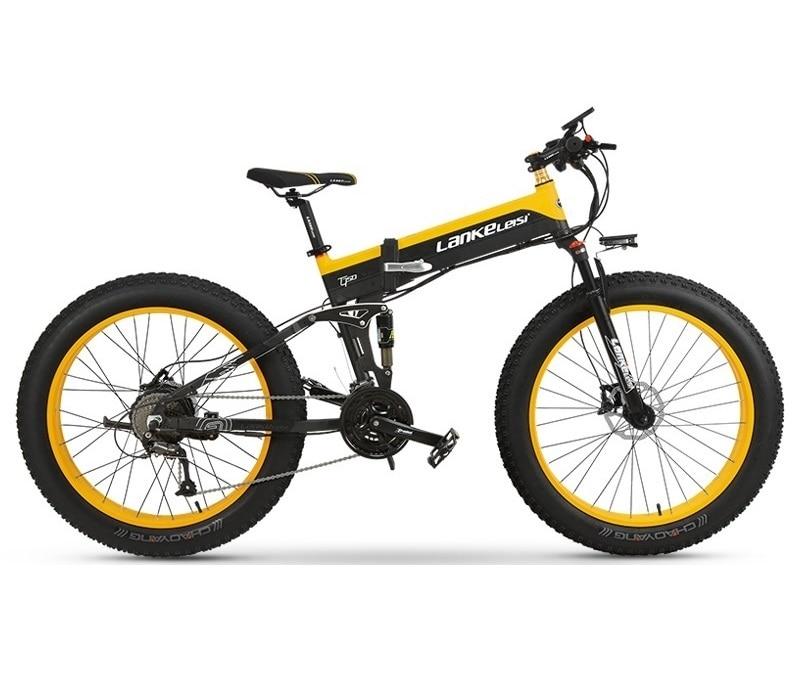 "EU Quality Level LANKELEISI 26x4.0"" 1000W Fat Tire Folding Electric Bicycle 48V 1000W 13AH Panasoni'c Lithium Battery 4"