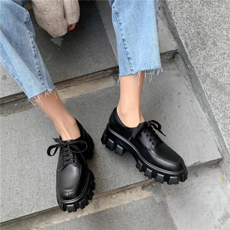Prova Perfetto 2020 yeni varış hakiki deri ayakkabı ayak bileği kayışı sığ bağcıklı ayakkabı platformu Sneakers Chaussure Homme ayakkabı