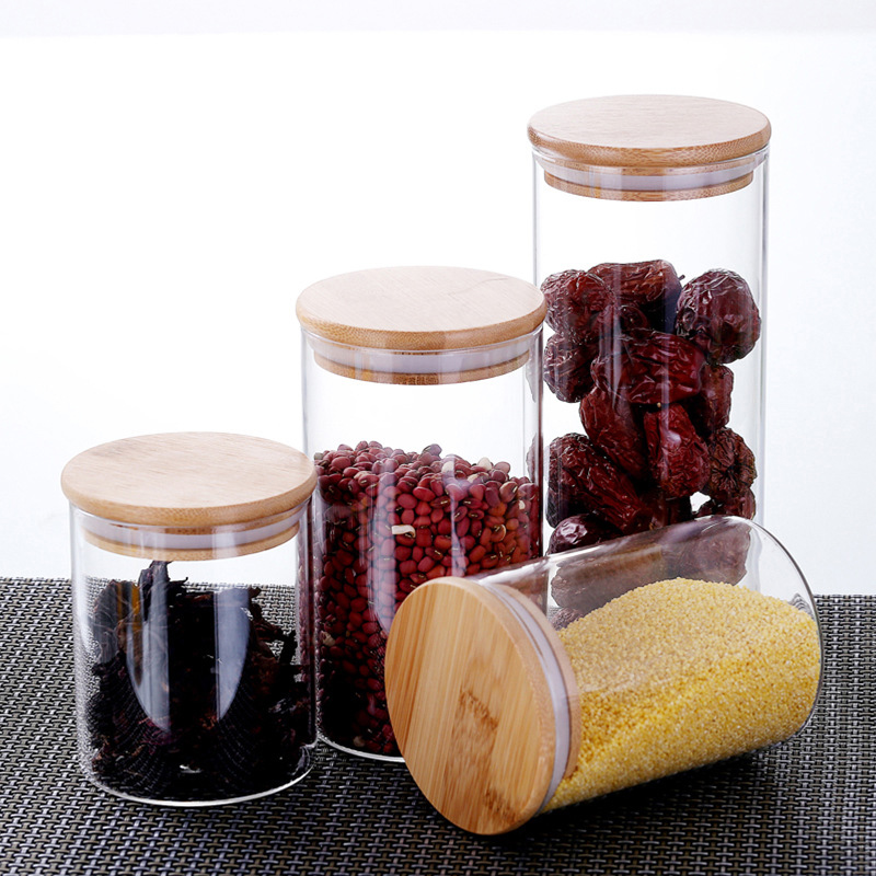 Купить прозрачная прозрачная стеклянная герметичная кухонная бутылка