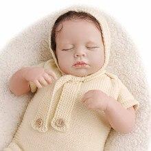 Rbg 20 polegadas loulou reborn bebê boneca lifelike criança bonecas recém-nascido bebe brinquedo vinil surpresa presente brinquedos para meninas crianças lol