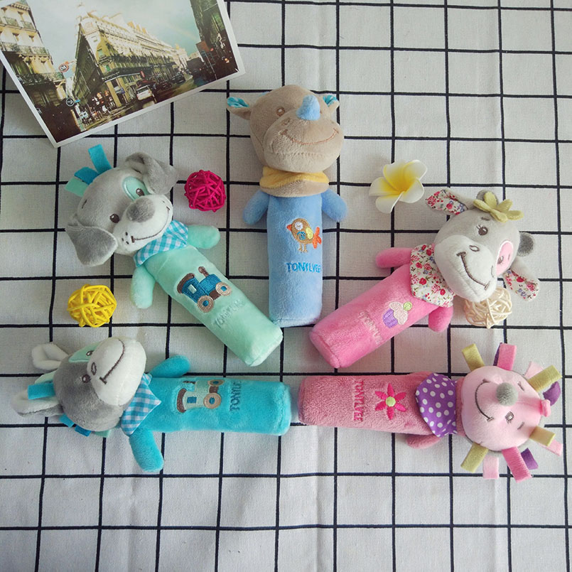 Plush Animal Baby Toys Soft 0-12 Months Stuffed Doll Stroller Toy Mobile Bed Bell For Newborn Babies Cartoon Kids Toys