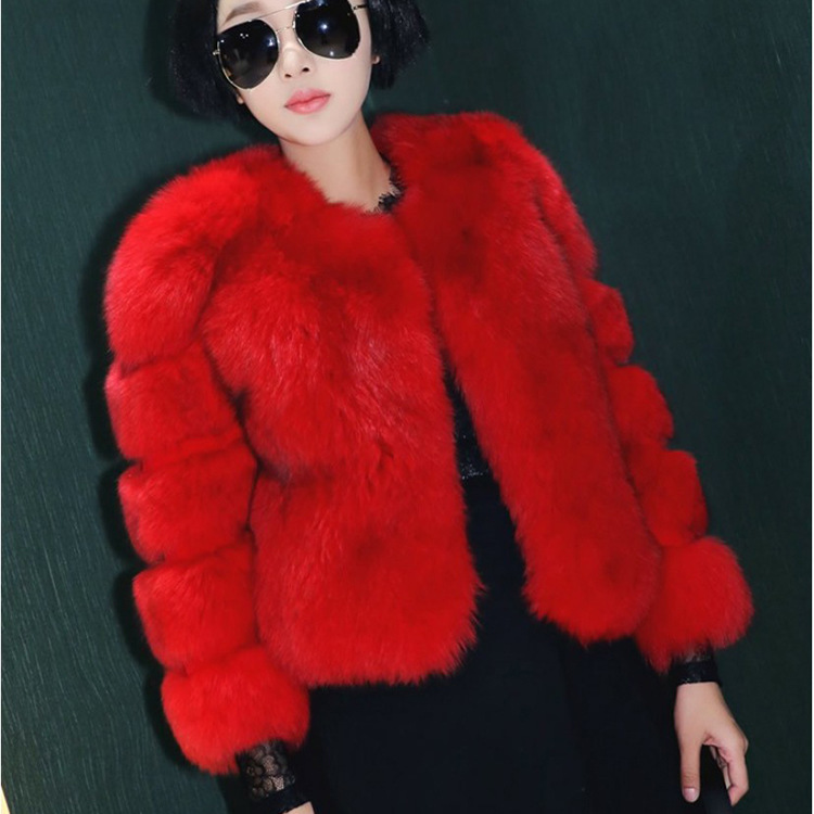 Winter Teddy Coat Women Jacket Ladies Faux Fox Fur Coat Female Clothes 2019 Korean Thick Warm Luxury Fur Coats Hiver 6613