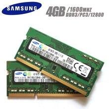 SAMSUNG 4G 1RX8 PC3 12800S DDR3 4GB de Memória Portátil 1600 Mhz 4G PC3 12800S Notebook 1600 MHZ Módulo de memória RAM SODIMM