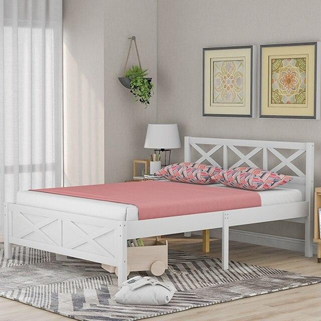 Queen Size Wooden Platform Bed 1