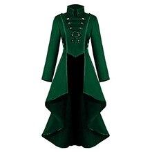 Косплей куртка для женщин Готический стимпанк пальто кнопка кружевной корсет Хэллоуин костюм пиджак-фрак# YL10