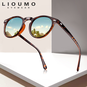 LIOUMO DESIGN Unisex Ultralight TR90 Polarized Sunglasses Men Women Driving Round Pink Shades Vintage Sun Glasses Gafas De Sol(China)