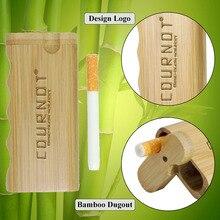 HORNET натуральная бамбуковая Dugout с керамической одной летучей мышью 48*103 мм Мини бамбуковая коробка Dugout дымовая трубка аксессуары