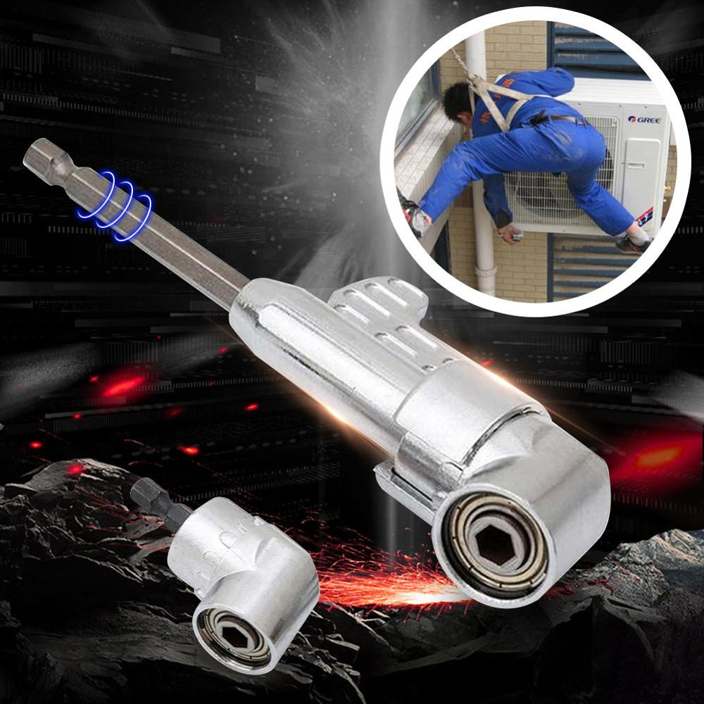105 Degrees Angle Extension 1/4 Inch Hex Drill Bit Screwdriver Tool Drilling Turning Head Socket Holder Adaptor Turning 40FP12