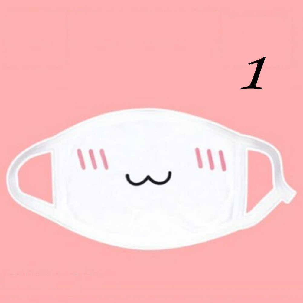 1PC del Cotone Antipolvere Bocca Viso Maschera Unisex di Stile Coreano Kpop Orso Nero Cycling Anti-Polvere di Cotone Del Viso Protezione maschere di copertura