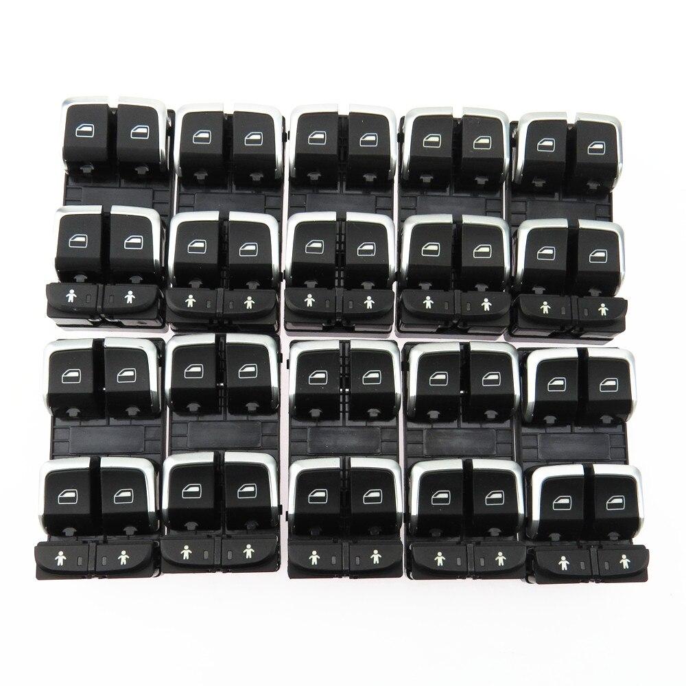 Qty10 для A7 Q3 RS6 A6 S6 C7 A8 S8 TT RS7 4GD 959 851 B 4GD959851 Хром Передний левый электронный мастер Управление кнопка включения
