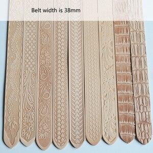 Image 3 - Deepeel 1pc 3.8cm * 110 \ 120cm pierwsza warstwa skóry wołowej wytłoczony pasek ze sprzączką Band wyroby rękodzielnicze DIY pasy skórzane akcesoria