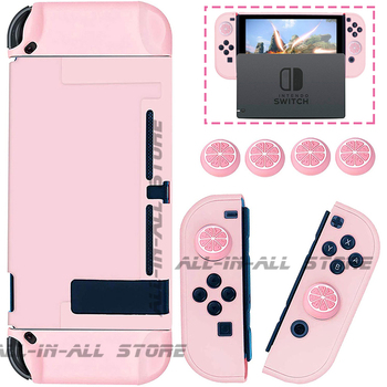 Nintendoswitch Console Pink Case Hard Skin Joycon Shell 4 Silicone Cover for Nintendo Switch Housing Joy Con Games Accessories 1