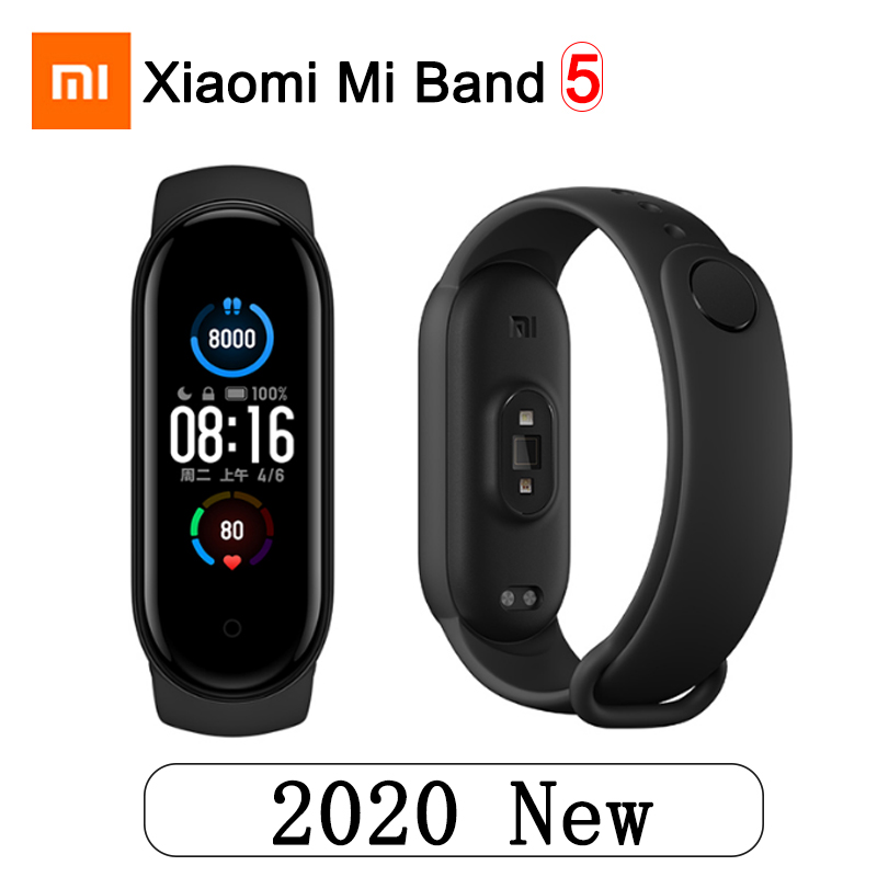 Original Xiaomi Mi Band 5 Smart Watch 4 Color AMOLED Screen Bluetooth Sport Waterproof Bracelet Heart Rate Music Track Monitor