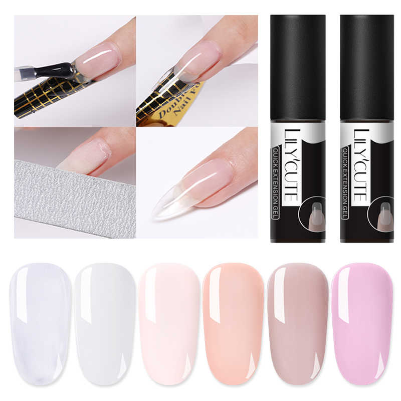 Lilycute 5 Ml Poly Extension Gel Roze Wit Clear Quick Building Gel Nail Soak Off Uv Gel Nail Art Fast vinger Extension Lijm