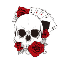 Car Sticker Funny Fashion Poker Skull & Red Rose Automobiles Motorcycles Exterior Accessories Vinyl Decal,16cm*14cm car sticker adventure awaits sunset camping travel automobiles motorcycles exterior accessories pvc decal 14cm 12 8cm
