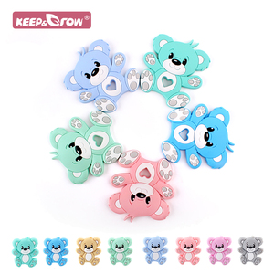 Silicone Mini Bear Beads Teeth