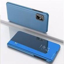 Funda protectora de lujo para Samsung A52 5G, carcasa con soporte de espejo abatible para teléfono Samsung Galaxy A72 5G, A 52 5G 2021