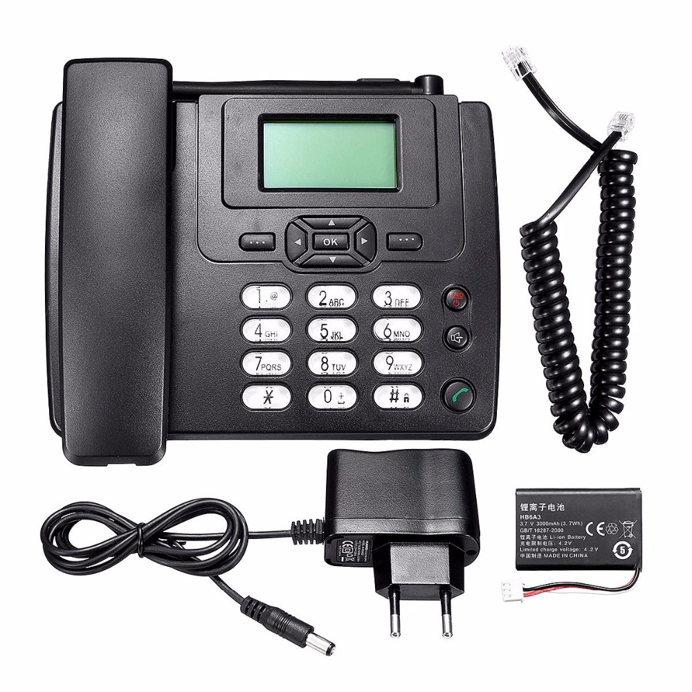 GSM SIM Wireless Phone Wall Mount Desktop telephone With FM Radio Fixed Radio fone for home and office wired landline telephone