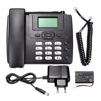 GSM SIM teléfono inalámbrico escritorio para montaje en pared teléfono con Radio FM Radio fija fone para el hogar y la Oficina cableado teléfono fijo