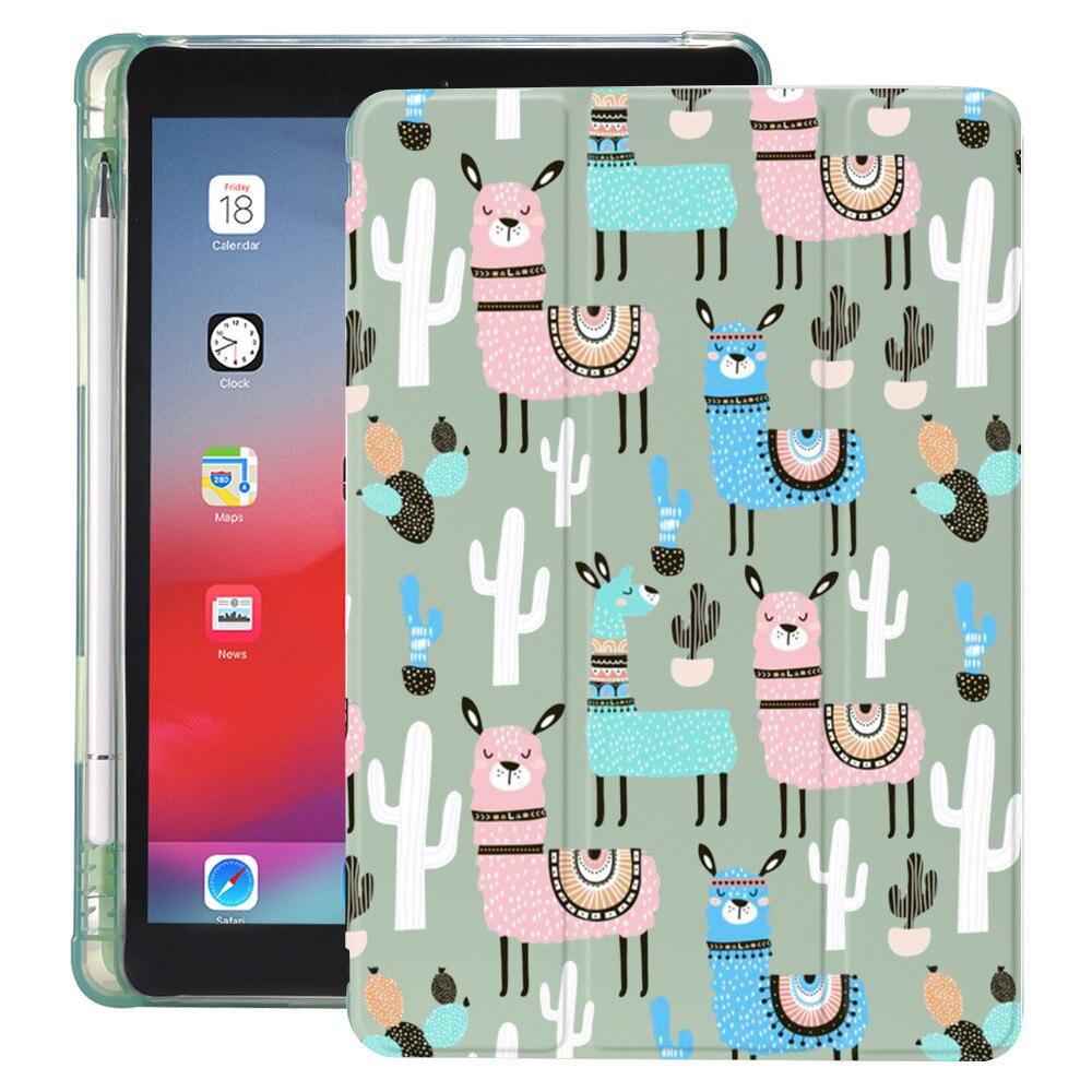 Alpaca Llama per Air 4 iPad Air 2 custodia portamatite carino 10.2 8 ° 2020 7 ° 12.9 Pro 2020 Mini 5 9.7 Cover Silicone Pro 11 Funda