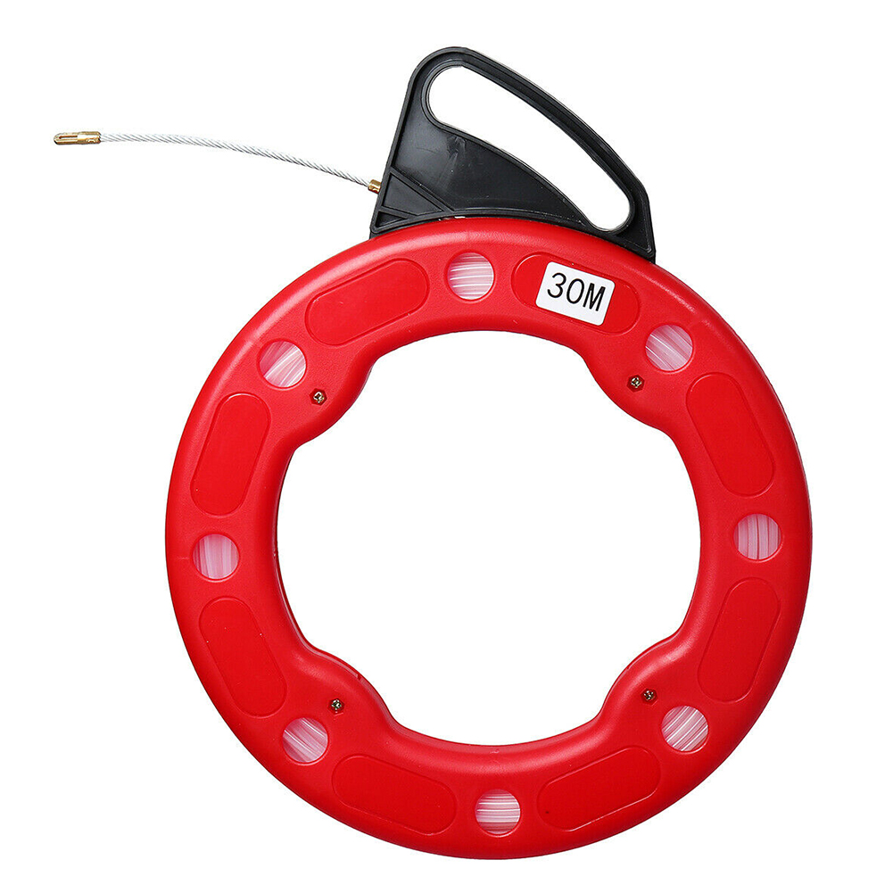 cabo eletricista de 30m cabo de construcao cabeca flexivel roedor nylon extrator de linha de parede