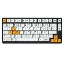 Clavier mécanique Gh60 Xd60 Xd84 Tada68 87 104, couvre touches couleur blanche, jaune, à impression noire, en PBT épais