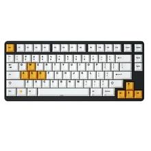 桜プロファイル白黄色キーキャップ色素サブ黒プリントthick pbtメカニカルキーボード用Gh60 Xd60 Xd84 Tada68 87 104