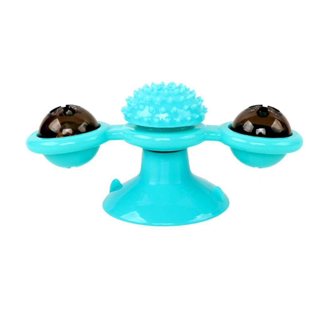 Pet Toy Interactive Cat Puzzle Training Rotary Table Ball Mill Rotating Cat Toys Cat Games Cat Supplies Cat Windmill