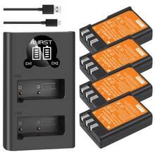 Batterie de caméra 2400mAh EN EL9 EN EL9a + chargeur USB pour Nikon D40 D40X D60 D3000 D5000